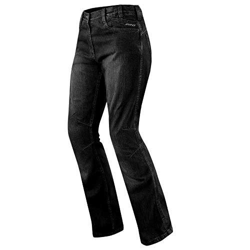 A-Pro Jeans Ladies Denim CE Knee Armored Motorcycle Motorbike Bikers Pants Black 30