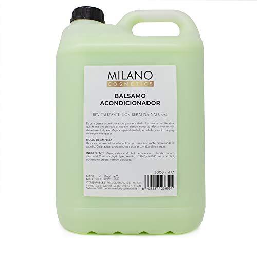 Milano Bálsamo Acondicionador 5000 ml Acondicionador en garrafa, hidratante y reparador para el pelo, sin sulfatos ni parabenos