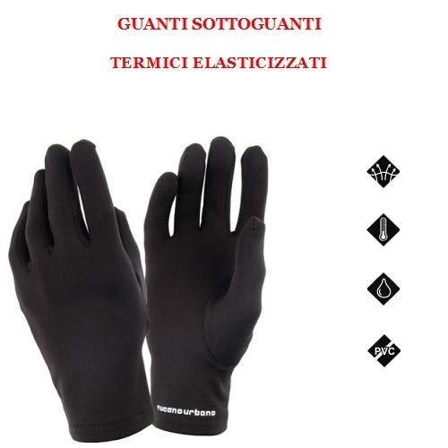 Tucano Urbano handschoenen poloshirt 669 maat XL-XXL zwart koord warmteregulering elastisch gevoerd technische handschoenen