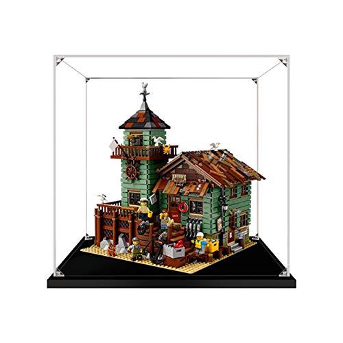 icuanuty Vetrina in Acrilico per Lego Ideas Vecchio Negozio dei Pescatori, 21310 ,Vetrina Antipolvere per Modellismo Collezionismo (Solo Vetrina)