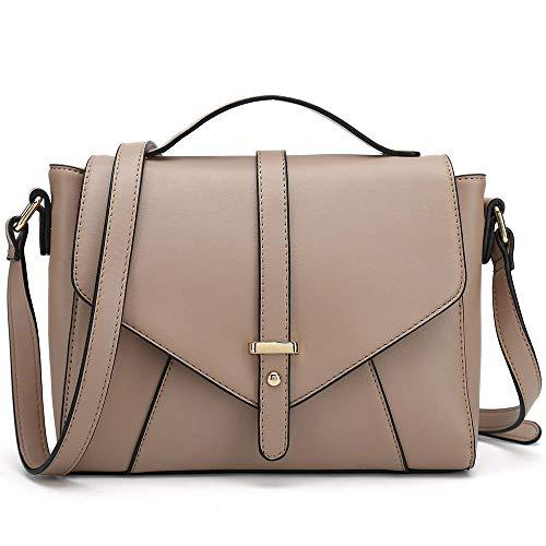 Ladies Designer Purses Cross Body Handbags Trendy Bags for Women Shoulder Bags (Khaki)