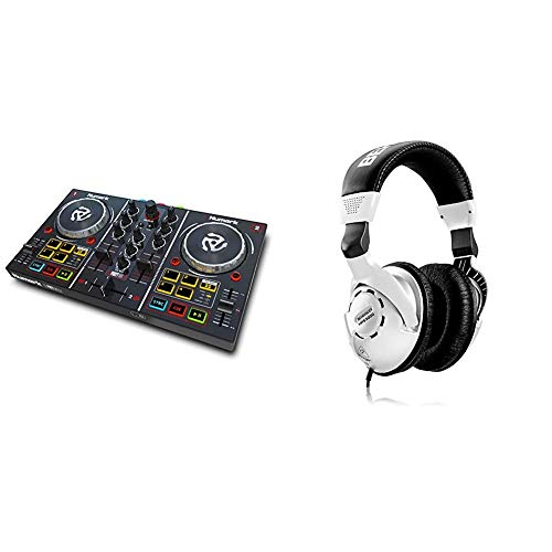 Numark Party Mix - Complete DJ Controller Set for Serato DJ with 2 Decks, Party Lights, Headphone Output, Performance Pads and Crossfader/Mixer & Behringer HPS3000 Studio Headphones