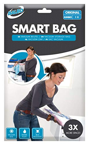 Balbo 5207873 Sacs à Vide vêtements Smart Bag Original Jumbo 110x100 cm, Transparent, 110x100cm