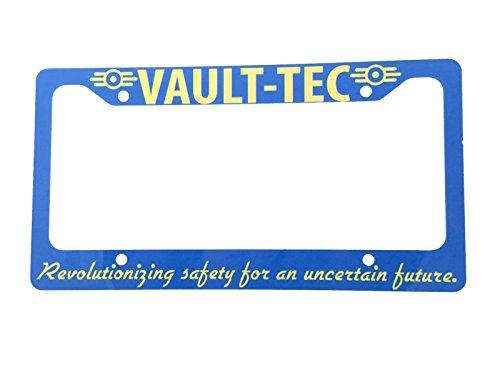 "Fallout Vault Tec Aluminum 6"" x 12"" License Plate Frame"