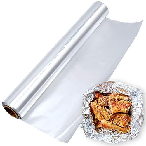 JJQHYC Küchen Alufolie BBQ Alurolle mit...