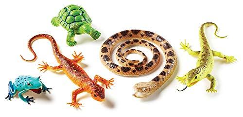 Learning Resources Jumbo Reptiles & Amphibians, Tortoise, Gecko, Snake, Iguana, and Tree Frog, 5 Animals, Ages 3+