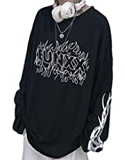 YEMOCILE ストリート系 袖ロゴ パーカー レディース 長袖 ゆったり 大きいサイズ 無地 シンプル 英字柄 ファッション カジュアル 男女兼用