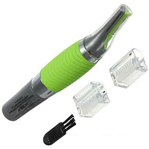 Multifunctionele 2-in-1 Elektrische tondeuse voor mannen met LED verlichting Micro Precision wenkbrauw oor neustrimmer afstand van Micro tot full body Grooming,Green