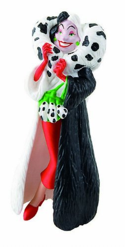 Bullyland 12512 - Spielfigur, Walt Disney 101 Dalmatiner, Cruella de Vil, ca. 10 cm
