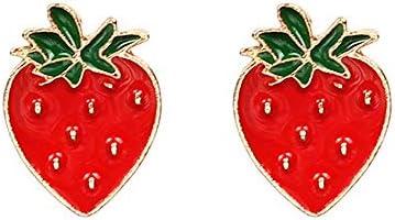 VEINTI 1 New Summer Jewelry Creative Funny Lifelike Fruits Earrings Ear Studs for Women Girl product image