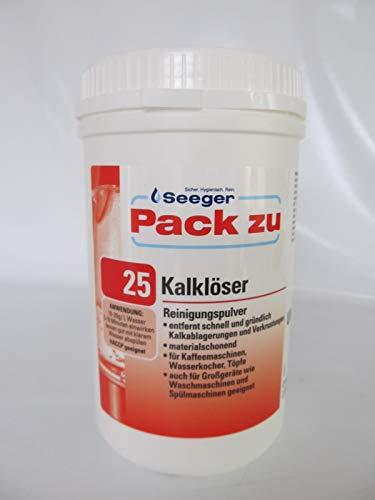 Seeger, Pack Zu 25, Kalklöser Pulver für Spülmaschinen Kaffeemaschinen, 1Kg