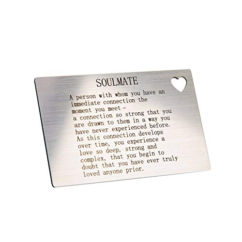 Engravity Soul Mate Quote Wallet Card Insert Love Gift...