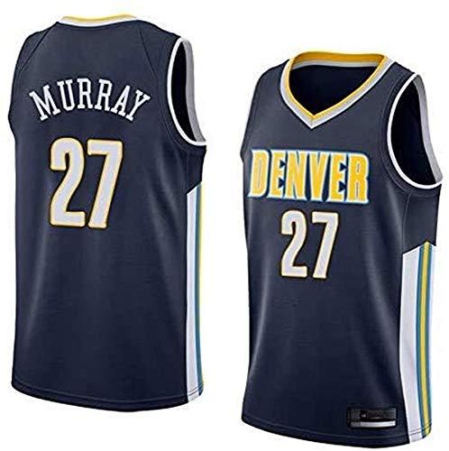 WSUN Maglia da Uomo NBA, Denver Nuggets 27# Jamal Murray Maglia da Basket NBA Leisure Maglia Sportiva Traspirante T-Shirt Swingman,S(165~170CM/50~65KG)