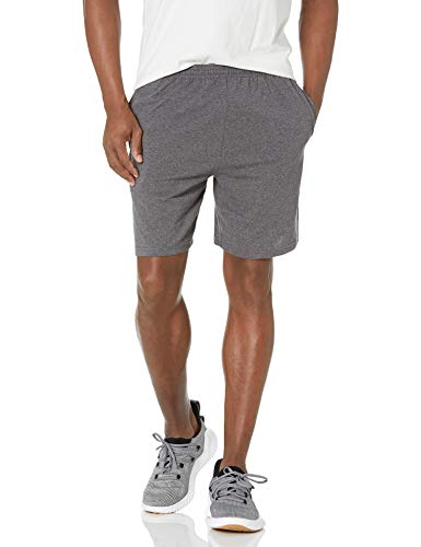 Hanes Men's Jersey Short with Pockets, Charcoal Heather, Large