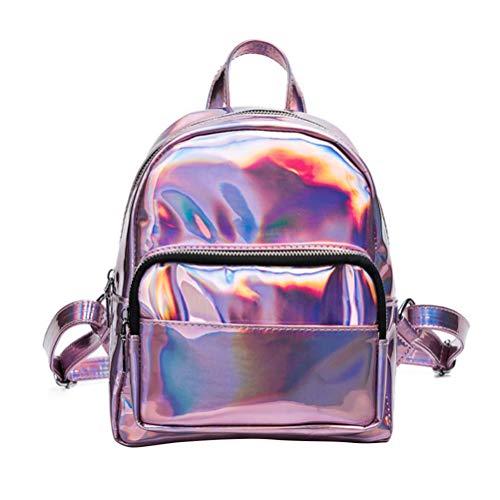 ASOSMOS Fashion Damen Mini Rucksack Schule Umhängetaschen Kleine glänzende Rucksäcke Harajuku Reisetaschen