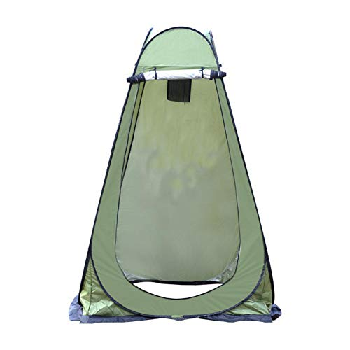 Pop Up Tent,Camping Shower Changing Tent,Mobile Personal Toilet Tent Privacy Protection Storage Tent,Lightweight Robust Easy Setting Rain Cover Outdoors,1.2x1.2x1.9m,army green