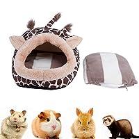 暖かいペットのベッド、キリンの形をしたペットの巣、ハムスターの小さなペットハウスのペットアクセサリーラットには無毒