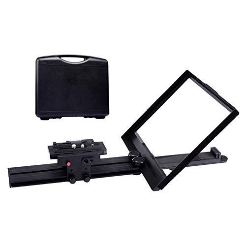 Kit Profesional de teleprompter de Estudio para Tableta, Smartphone, cámara de vídeo DSLR con Funda de Transporte
