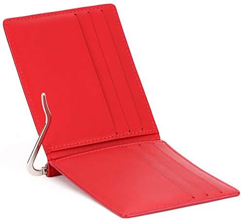 LEABAGS Scranton portafoglio vintage in vera pelle di vitello - Rosso
