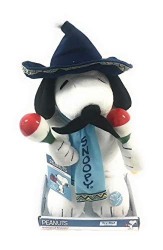 Mariachi Snoopy Animated Singing and Dancing Plush - Sings Feliz Navidad