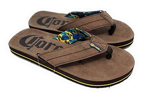 Corona Beer Men's Thong Sandals (M 9/10) Brown