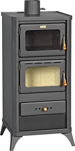 Prity FME - Estufa de leña con horno y cocina, 12 kW