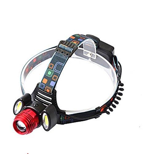 Linternas de Cabeza LED 3000 Lumens 4.0 Modo Cree XM-L T6 Cree R2 18650.0Enfoque Ajustable Resistente a Golpes Bisel de Impacto