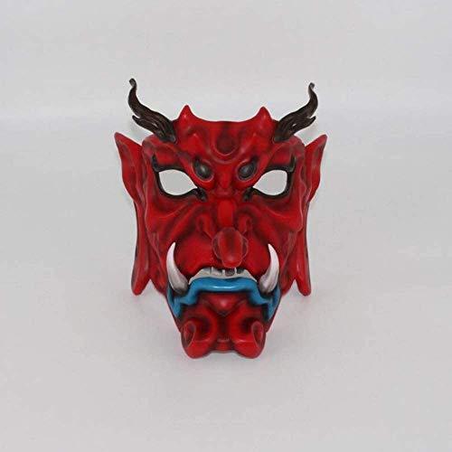 WBXNB Maskerade Horror-Effekt Gruselige Maske Boutique Japanischen Nebel Versteckt Tian Hund Maske Japanischen Stil Buddha Ghost Drama Cos Verkleiden Sich Hand Modell Halloween Urlaub Li.