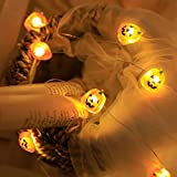 GAGB Pumpkin String Lights lamp Halloween Series led Pumpkin Shaped Pumpkin Lantern Atmosphere Decorations Flexible Copper Wire lamp Battery Powered Small Cute String Lights (A String of Lights)