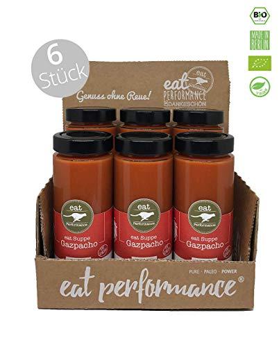 eat Performance® Gazpacho Suppe (6x 350ml) - Bio, Paleo, Frisch Gekocht Aus 100% Natürlichen Zutaten