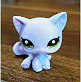 Greneric Hart Ear Short Haired Cat LPS Toy Littlest Pet Shop, Rare LPS Toy Sparkle Action Figures Kids Toy Gift
