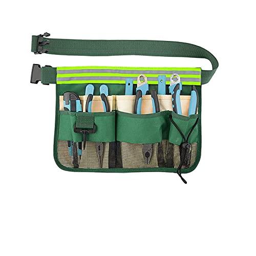 1 Stück Gürtel für Gärtner, Gürtel für Gartengeräte, Werkzeuggürtel, für Mehrkammer-Set für Werkzeuge, Elektriker, Handwerker