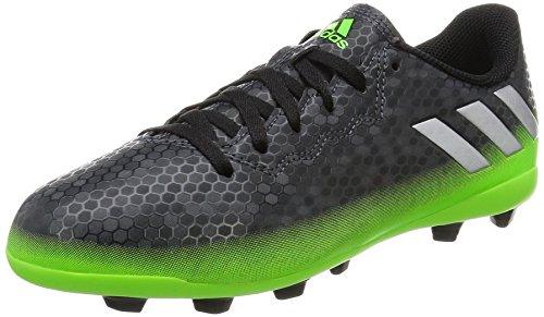 adidas Unisex Messi 16.4 FxG Fußballschuhe, Grau (Dark Grey/Silver Met./Solar Green), 38 2/3 EU