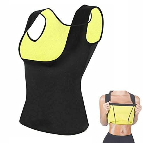 SITAILI Womens Sauna Hot Sweat Slimming Vest, Workout Neoprene Gym Yoga Top Thermal