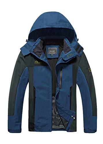 Rain Jacket Mens Windbreaker Jackets Waterproof Jackets Outdoor Rain Coat Sports Breathable Jacket Running Cycling Camping Jacket