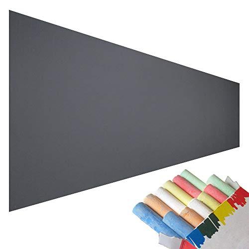 壁が黒板に!張るブラックボードシート 2m×45cm 【EMPT】4色5本のチョーク付き さらに6色12本のおまけ...