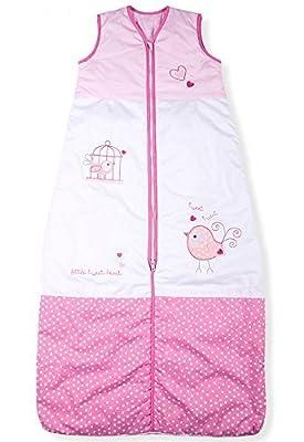 Sacos de Dormir para Bebé, Tweet Pequeño Pájaro, Kiddy Kaboosh Varios Tamaños, Ligero, 0.5 Tog