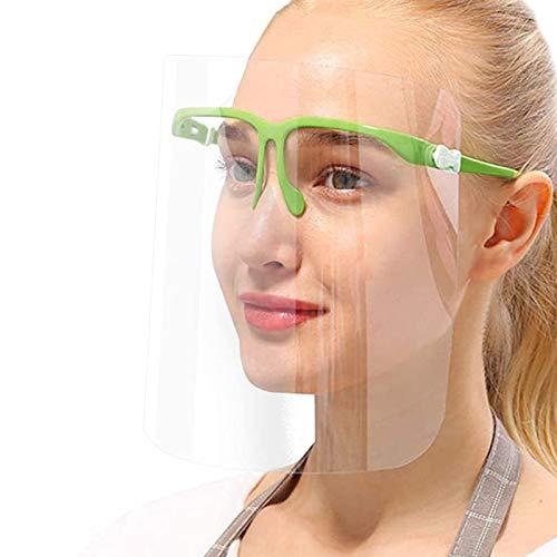 True Face Shield (confezione da 10) occhiali con visiera, protezione verde, in plastica trasparente trasparente