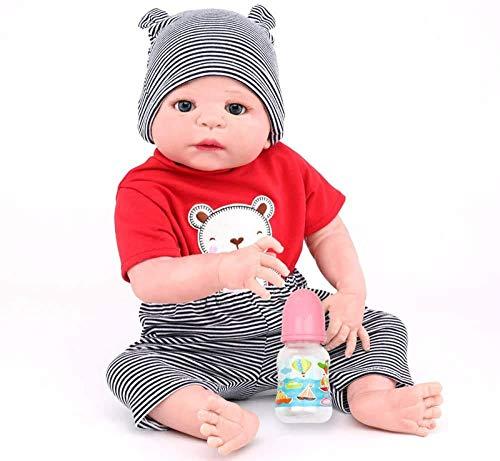 Muñeca Reborn de Vinilo de Silicona Completa Muñecas de bebé Hechas a Mano realistas 22 Pulgadas 55 cm Niños realistas