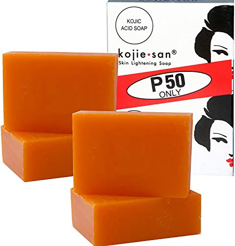 KOJIE SAN FACE & BODY SOAP - 5 Pack of Kojie San Skin Lightening Kojic Acid Soap (2 Bars per pack) 65g - SUPER SAVINGS