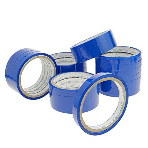 PrimeMatik - Blaues Klebeband für Edelstahl Beutelverschliesser Beutelverschlussgerät Klebebandspender 24-Pack