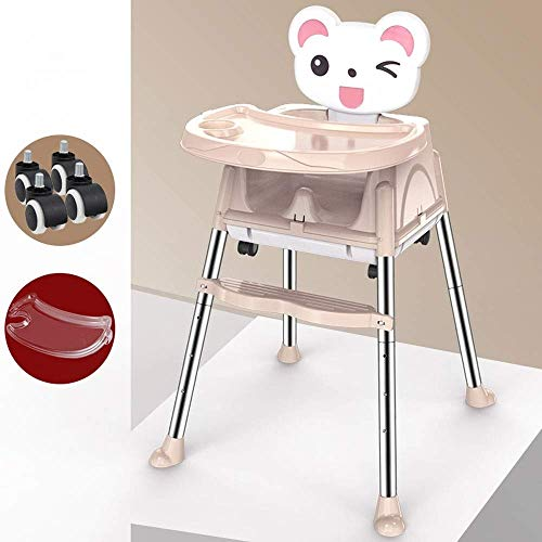 Best Price YHLZ Baby High Chair, Stainless Steel, 6 Months - 4 Years Old Baby Multi-Function Foldabl...