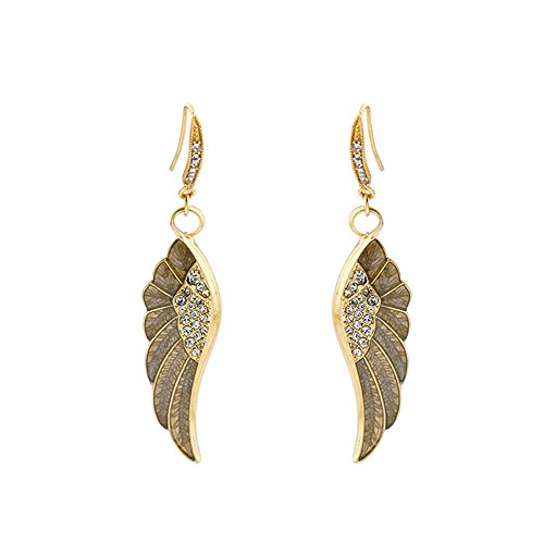 EGGofry Oorbellen voor vrouwen van de Amerikaanse en Europese stijlvolle en elegante parketvloer boren vleugel hanger oorbellen vrouwelijk