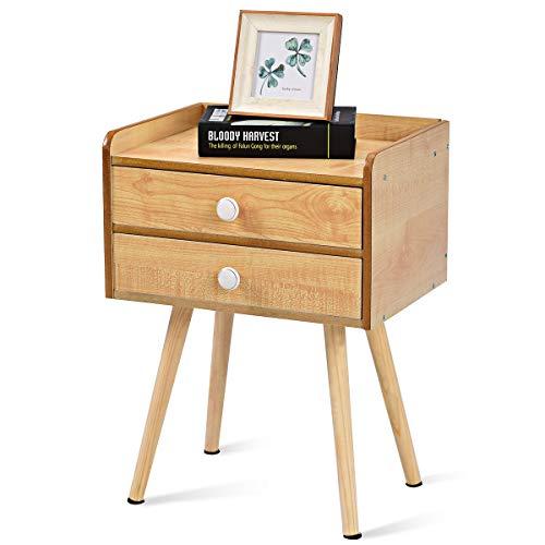 COSTWAY Nachttisch Nachtkommode Nachtschrank Nachtkonsole Beistelltisch Flurkommode Flurtisch Ablagetisch Telefontisch Modellwahl (Modell 2(40x30x54cm))