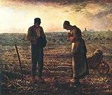 Kunstdruck Angelusläuten Normandie Frankreich Gebet Feld