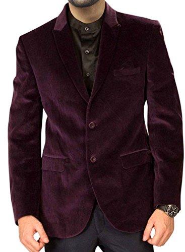 INMONARCH Mulberry Hommes manteau de velours Bouton deux beau VB23S36 46 or S (hauteur 163 cm bis 170 cm) Mulberry