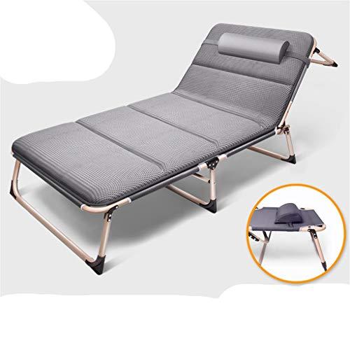 BAJIAN-LI opklapbed ligstoel slaapbank kantoor/Outdoor Camping Chaise Longue Nap Bed met kussen kussen/masker/tas verstelbaar