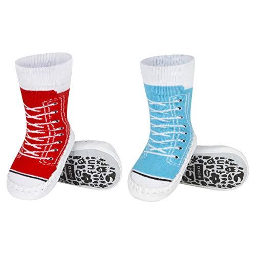 soxo Baby Anti-Rutsch-Socke Schuhe   Hausschuhe mit Ledersohle   Turnschuhe Sets für Jungen und Mädchen   Fantastische Geschenkidee   Size 19-21  12-24 Monate