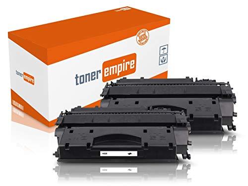 TE Premium toner zwart compatibel met HP CE505 voor HP Laserjet P2055D / P2055DN / P2055 X laserprinter (2) 2x Toner (CE505A)