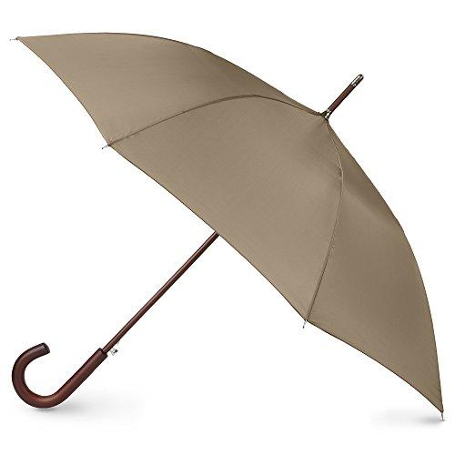 totes Automatisch öffnender Regenschirm aus Holz, British Tan (Beige) - 9302